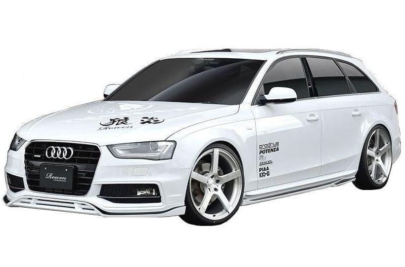 【M's】 アウディ A4 アバント S-Line / S4 Avant エアロ 4点 セット ROWEN / ロウェン // フロント スポイラー / サイド ステップ / リア ディフューザー / リヤ ゲート / PREMIUM STYLE KIT 2 8K 後期 Audi 1A010X01