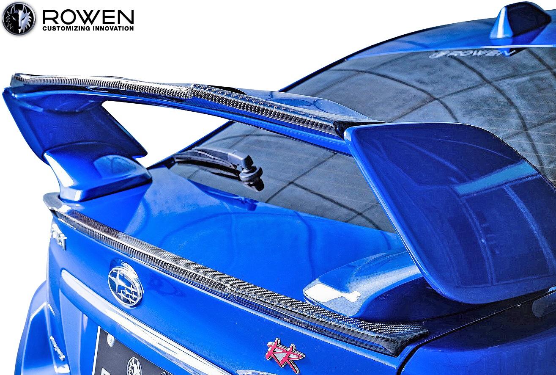 【M's】スバル WRX STI/S4 後期 (2017.6-) ROWEN トランクスポイラー//FRP製 VAB VAG エアロ ロェン ロウェン ローウェン ロエン ローエン 狼炎 トミーカイラ SUBARU リアウイング リヤウイング トランクウイング 未塗装 1S006T00