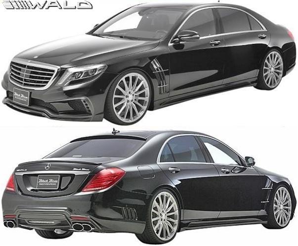 【M's】W222 ベンツ Sクラス 前期 (2013y-) WALD フルエアロ 3点キット(F/S/R)//正規品 ヴァルド バルド ブラックバイソン SPORTS LINE Black Bison Edition FRP エアロキット フルエアロ エアロセット S300 S400 S550 S600