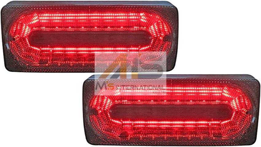 【M's】W463 ベンツ AMG Gクラス(ゲレンデ)クリスタル LEDテールランプ 左右(スモーク)//社外品 テール ライト レンズ ランプ 3854 230GE 300GE 500GE G320 G350 G500 G550 G36 G55 G63 G65