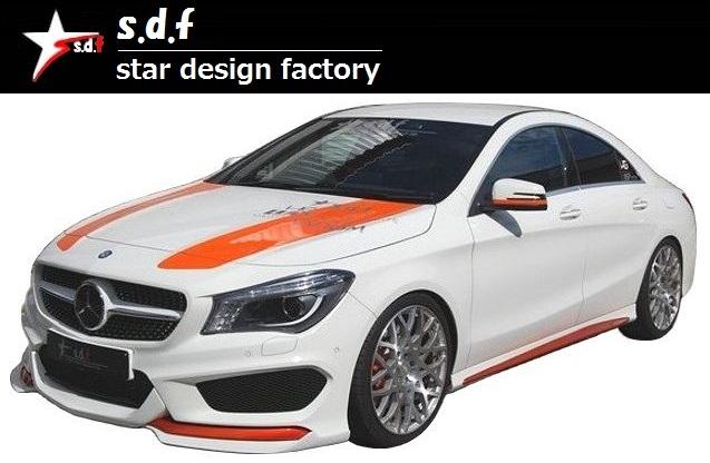 【M's】メルセデス・ベンツ CLA C117 前期 TYPE A エアロ 3点セット / s.d.f star design factory //フロント リップ スポイラー TYPE A / リア ディフューザー / ルーフ スポイラー / Mercedes Benz W117