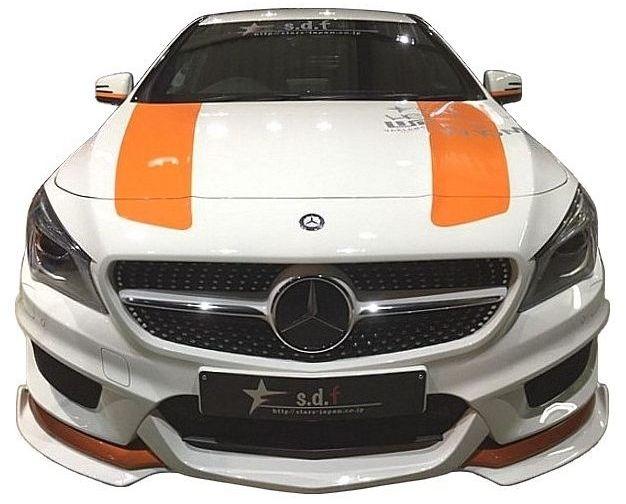 【M's】メルセデス・ベンツ CLA C117 前期 フロント リップ スポイラー TYPE A / s.d.f/star design factory エアロ // Mercedes Benz W117