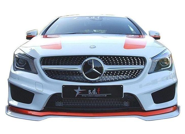 【M's】メルセデス・ベンツ CLA C117 前期 フロント リップ スポイラー TYPE B / s.d.f/star design factory エアロ // Mercedes Benz W117
