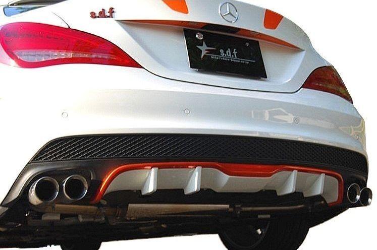 【M's】メルセデス・ベンツ CLA C117 前期 リア ディフューザー / s.d.f/star design factory エアロ // Mercedes Benz W117