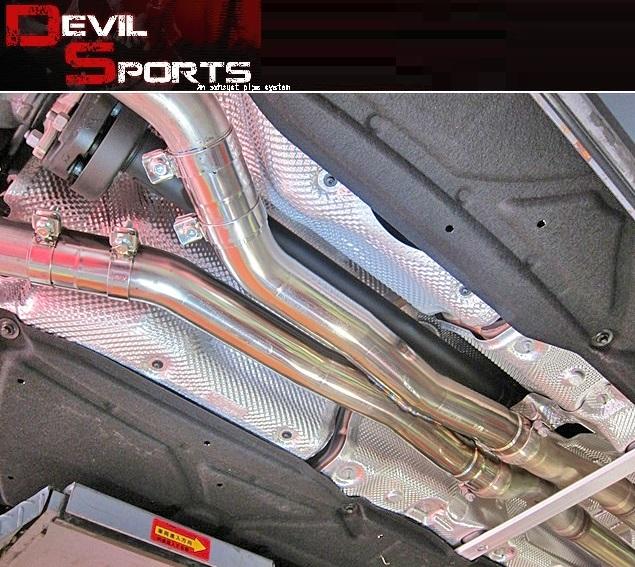 【M's】W218 AMG CLS63(V8)DEVIL SPORTS センターマフラー//3229 C218 CLS218 デビルスポーツ エキゾースト センターパイプ ストレートセンターXパイプ 新品