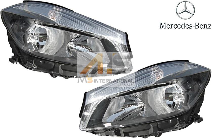 【M's】W176 ベンツ AMG Aクラス(2012y-)純正品 ハロゲン ヘッドライト 左右/正規品 ライト A180 A250 A45 176-820-0361 176-820-0461 1768200361 1768200461
