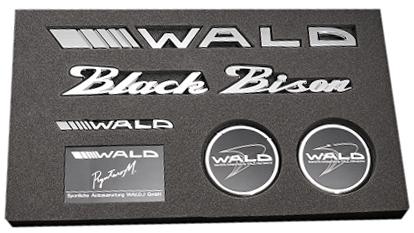 【M's】WALD ブラックバイソン エンブレムセット Type2//Black Bison ベンツ BMW アウディ ポルシェ ロールスロイス ベントレー マセラティ ランドローバー ジャガー レクサス トヨタ ニッサン