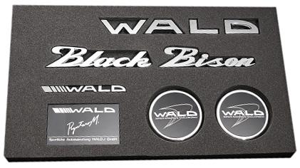 【M's】WALD ブラックバイソン エンブレムセット Type4//Black Bison ベンツ BMW アウディ ポルシェ ロールスロイス ベントレー マセラティ ランドローバー ジャガー レクサス トヨタ ニッサン