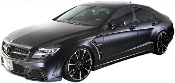 【M's】W218 C218 ベンツ CLS350 CLS550 CLSクラス 前期(2011y-2014y)WALD エアロキット 3点(FRP製)//AMGスタイリングパッケージ車専用 エアロ ヴァルド バルド SPORTS LINE Black Bison Edition ブラックバイソン フルエアロ