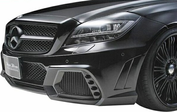 【M's】W218 C218 ベンツ CLS350 CLS550 CLSクラス 前期(2011y-2014y)WALD フロントバンパースポイラー(HYBRID製 CARBON/FRP製)//AMGスタイリングパッケージ車専用 LEDランプ+キャンセラー+ネット付属 エアロ ヴァルド バルド Black Bison ブラックバイソン