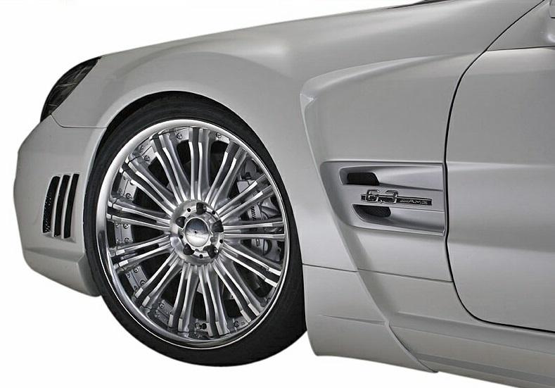 【M's】R230 ベンツ SLクラス 後期(2008y-)WALD Black Bison フロント スポーツフェンダー 左右//FRP製 ヴァルド バルド スポーツライン ブラックバイソン エアロ パーツ C230 SL350 SL550 SL600