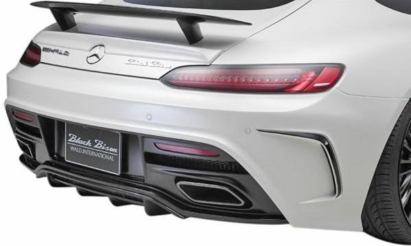 【M's】C190 メルセデス-AMG GT(2015y-)WALD リアバンパースポイラー(ネット付)//正規品 ヴァルド バルド FRP SPORTS LINE Black Bison Edition Mercedes-AMG GT エアロ W190 ベンツ AMG GT