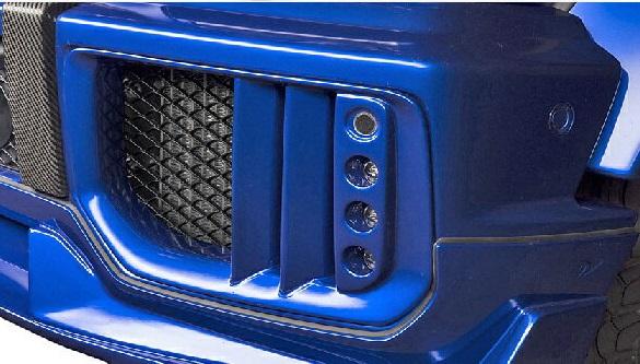 【M's】W463 Mercedes-AMG G63(2013y-)WALD Black Bison LEDインサートエアダクト(LEDランプ+ネット付属)//HYBRID製 エアロ ヴァルド バルド ブラックバイソン ベンツ Gクラス ゲレンデ