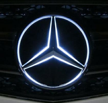 【M's】W218 CLSクラス/W207 Eクラス(クーペ)純正品 フロント スターマーク LEDエンブレム(ホワイト)//正規品 ヤナセオリジナル グリル 白 ベンツ AMG C218 C207