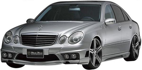【M's】W211 ベンツ Eクラス E500 E550(セダン)WALD SPORTS LINE Black Bison フルエアロ 3点セット FOGver. // BENZ スポーツライン ブラックバイソン フロント サイド リア リヤ FRP製 未塗装 高品質 新品