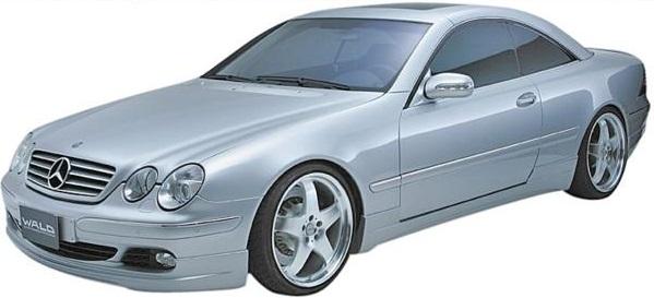 【M's】W215 C215 ベンツ CLクラス 後期(03y-)CL500 CL600 WALD Executive Line フルエアロ 3点kit // BENZ ヴァルド エグゼクティブライン フロントスポイラー サイドステップ リアスカート FRP オーダー バルド 未塗装 受注 高品質 エムズ 新品
