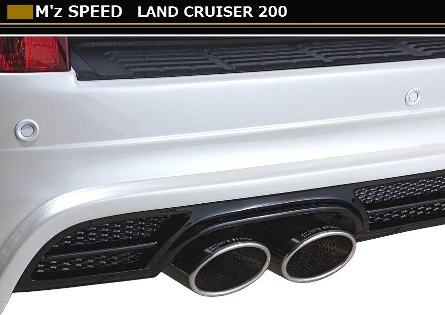 【M's】ランクル 200 後期 左右 4本出し マフラー / M'z SPEED // トヨタ TOYOTA LAND CRUISER URJ202W / LUV LINE 2311-0145 exhaust system