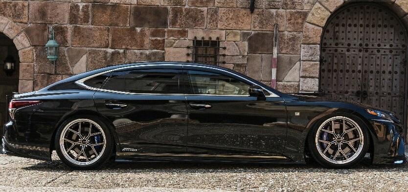 【M's】レクサス LS500h/LS500 F-SPORT(H29.10-)WALD Executive Line サイドステップ (左右)//LEXUS LS 50系 HYBRID TURBO ハイブリッド ターボ Fスポーツ LS50 50LS ABS製 ヴァルド バルド エアロ パーツ 未塗装 受注生産品