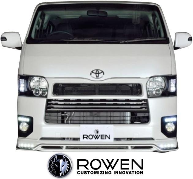 【M's】トヨタ ハイエース 200系 4型 前期 ナロー (2013.12-2017.12) ROWEN フロントスポイラー(LED付)//ABS 標準ボディー ローウェン エアロ リップスポイラー ロエン ロェン ローエン ロウェン HIACE 200ハイエース 200HIACE 4型前期 前期4型 4.5型 5型 1T019A00