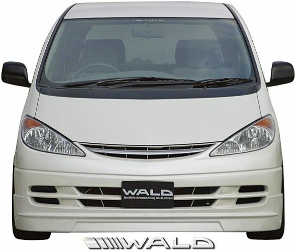 【M's】トヨタ 30/40 エスティマ 前期 (H12.1-H15.5) WALD Executive Line フロントスポイラー//FRP製 ヴァルド バルド エアロ カスタム シンプル トヨタ TOYOTA ESTIMA 30エスティマ 40エスティマ MCR ACR 30W 40W