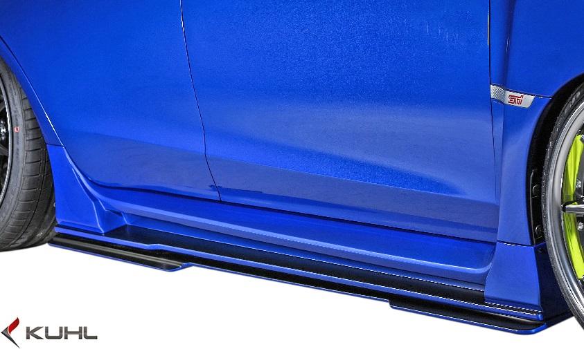 【M's】スバル 後期 WRX STI/S4 (H29.6-) Kuhl Racing VAB-GT サイドディフューザー 左右//FRP製 SG クールレーシング ストロンググレード エアロ サイドアンダースポイラー サイドスカート サイドエアロ ディフューザー サイドアンダーディフューザー SUBARU