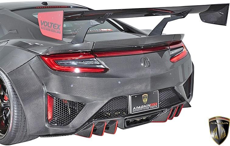 【M's】ホンダ NSX NC1 (2016y-) AIMGAIN GT リアパンパ―スポイラー//エイムゲイン ドライカーボン DRY CARBON エアロ リヤバンパースポイラー リアスポイラー リヤスポイラー NS-X N-SX エヌエスエックス HONDA ACURA アキュラ