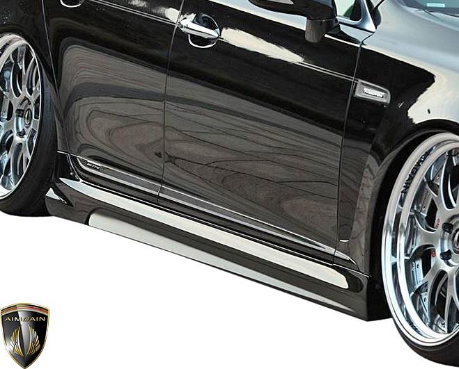 【M's】レクサス 40系 中期 S600h LS600hL (2009.9 - 2012.10) AIMGAIN 純VIP GT サイドステップ 左右//UVF45 UVF46 FRP エイムゲイン エアロ サイドスポイラー サイドスカート サイドエアロ カスタム シンプル レクサスLS LEXUS LS 40LS LS40 中期LS 40中期