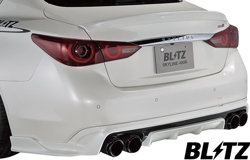 【M's】日産 V37 スカイライン 400R (2019/09-) BLITZ AERO SPEED R-concept リアディフューザー (M/C後専用品)//ブリッツ エアロスピード FRP リヤディフューザー カスタム ニッサン NISSAN 37スカイライン 400スカイライン 60365