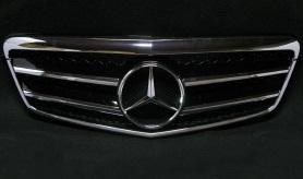 【M's】ベンツ W212 Eクラス(09y~/セダン)ビックスターマークグリル・ビッグスターマークグリル(ブラック)新品