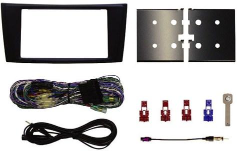 【M's】ベンツ W211 Eクラス W219 CLSクラス/カーナビ カーオーディオ 2DINパネルキット(AVインストールキット)新品