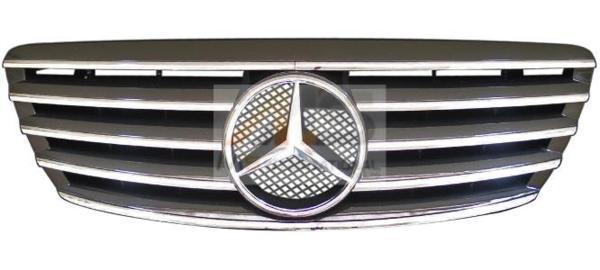 【M's】W220 S クラス S350 S430 S500 S600 S55 AMG 後期(03y-)SLスタイル グリル BK 0012 メルセデス ベンツ BENZ 社外品 フロント