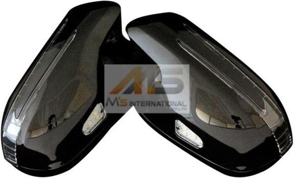 【M's】R230 SL350 SL500 後期スタイル LED ドアミラーカバー BK 2368 ブラック 黒 ベンツ AMG NEWスタイル 鹿児島 エムズ 新品