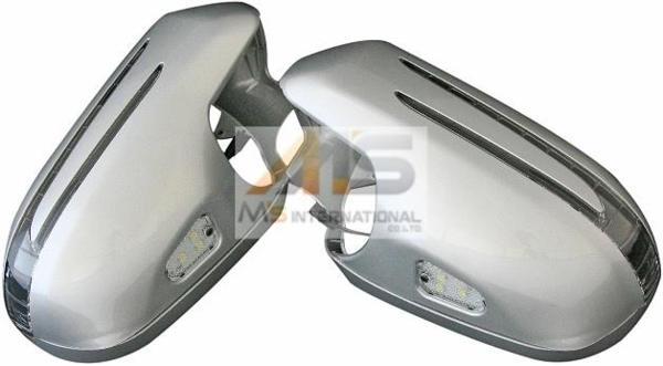 【M's】R230 SL350 SL500 -05y 後期LOOK LEDドアミラーカバー SL 2365 シルバー 灰 ベンツ AMG NEWスタイル エムズ 鹿児島 新品