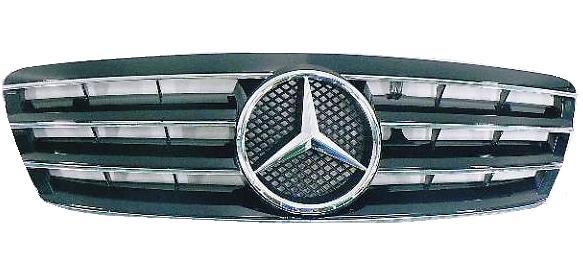【M's】W203 ベンツ Cクラス C180 C200 C230 C240 C280 C320 AMG C32 セダン ワゴン SLルックグリル ブラック 新品