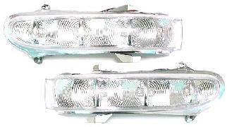 【M's】ベンツ W220 Sクラス W215 CLクラス AMG アジア製 03y~後期ルック LEDドアミラーウインカーレンズ新品