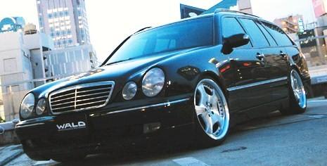 【M's】W210 ベンツ Eクラス(ワゴン/00y~) WALD Executive Line リアスカート // BENZ ヴァルド バルド エグゼクティブ 未塗装 スポイラー R リヤ 新品
