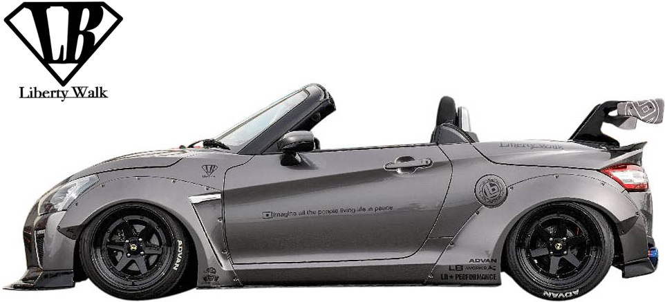 【M's】ダイハツ コペン LA400K (2014y-) lb★nation COPEN GT-K サイドディフューザー 左右//Liberty Walk エアロ リバティーウォーク リバティウォーク LB エアロパーツ サイドステップ サイドスカート カスタム 400コペン