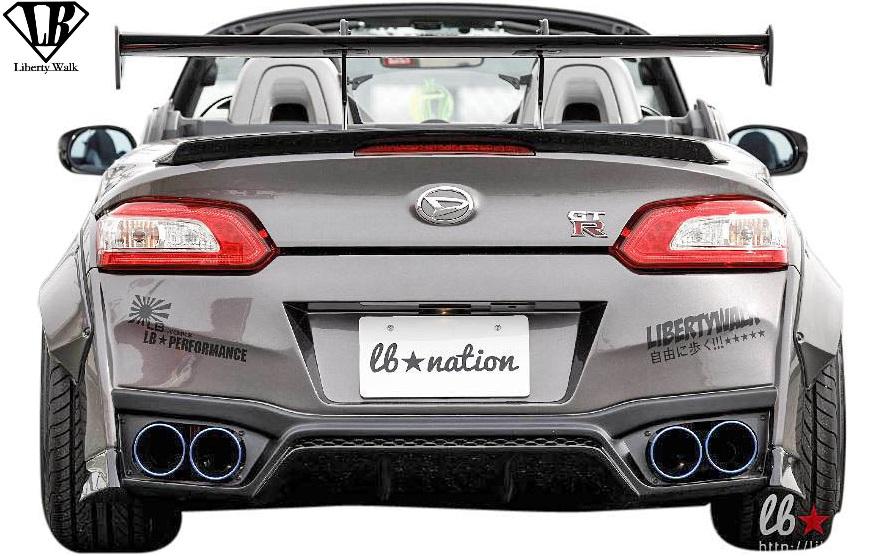 【M's】ダイハツ コペン LA400K (2014y-) lb★nation COPEN GT-K リアバンパー//Liberty Walk エアロ リバティーウォーク リバティウォーク LB エアロパーツ リヤバンパー バンパー カスタム 400コペン