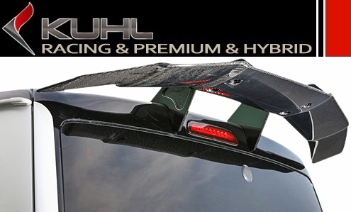 Toyota Hiace 200 series KUHL RACING whiplash GT wing (carbon + BK chromemeckister) / / roof spoiler narrow standard for body new