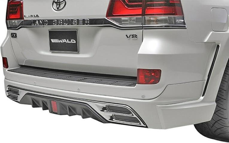 【M's】トヨタ ランドクルーザー 200 後期(H27.8-)WALD SPORTS LINE リアスカート//URJ202W ランクル ヴァルド スポーツライン LAND CRUISER ABS