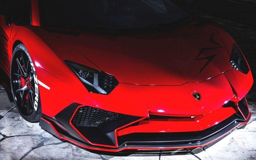 【M's】ランボルギーニ アヴェンタドール LP750-4 SV フロント アンダー スポイラー カーボン / LEAP DESIGN/リープ デザイン / Lamborghini Aventador