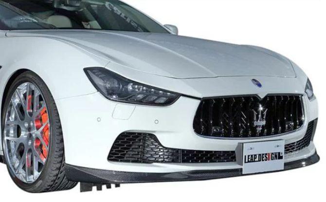 【M's】MASERATI GHIBLI フロント リップ スポイラー / LEAP DESIGN / リープ デザイン エアロ //マセラティ ギブリ / ハーフ アンダー カーボン 3.0 S Q4 4WD