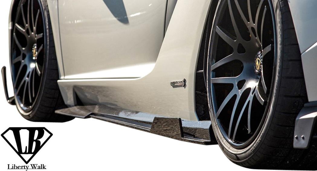 【M's】ランボルギーニ アヴェンタドールS (2017y-) LB★PERFORMANCE サイドディフューザー//Dry Carbon エアロ Liberty Walk リバティーウォーク リバティウォーク リバティー リバティ Lamborghini AVENTADOR-S サイドステップ サイドスカート サイドエアロ