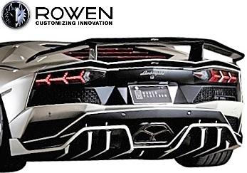 【M's】ランボルギーニ アヴェンタドールS LP740-4 (2017.1-) ROWEN トランクスポイラー//カーボン製 CARBON エアロ ロェン ロエン ロウェン ローウェン ローエン Lamborghini Aventador S アベンタドール リアウイング リヤウイング 1G002T10