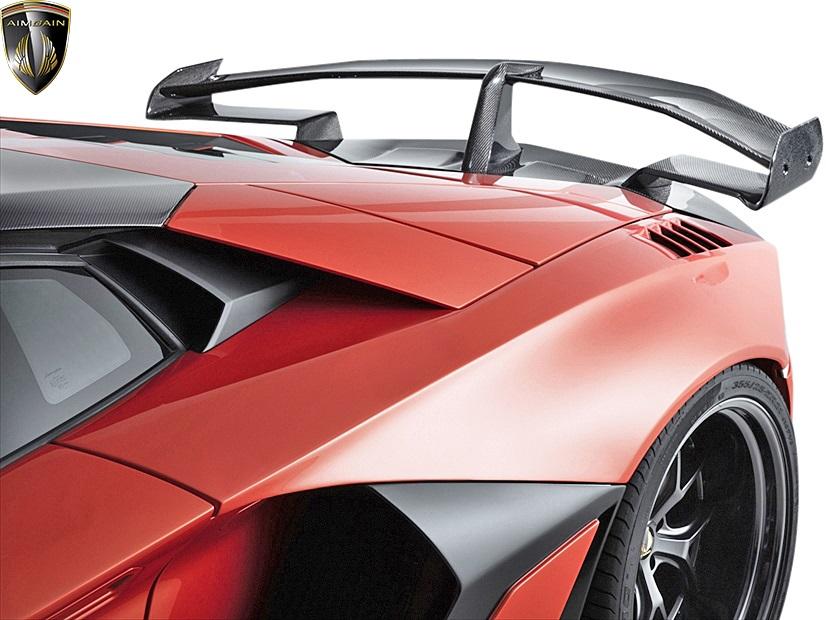 【M's】ランボルギーニ アヴェンタドール (2011y-2018y) AIMGAIN GT type2 リアワイドフェンダー(交換タイプ/70mmワイド・2ピース)//FRP製 エイムゲイン エアロ オーバーフェンダー カスタム LAMBORGHINI AVENTADOR アベンタドール ランボ アヴェンタ アベンタ