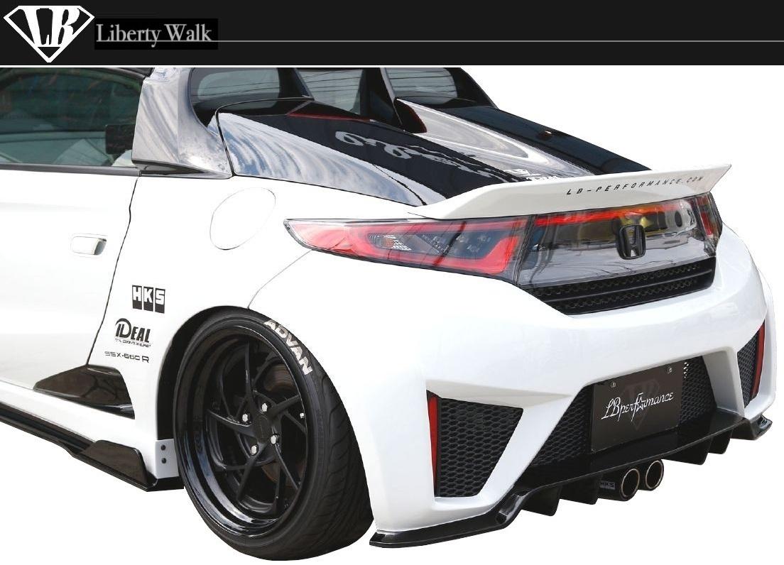 ホンダ S660 LB リア バンパー Liberty Walk エアロ / リバティ ウォーク LB PERFPRMANCE HONDA