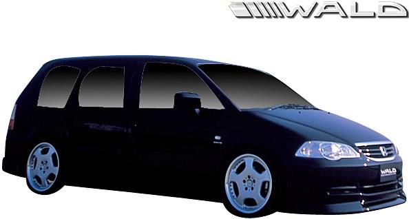【M's】ホンダ RA6/RA7 オデッセイ 後期 (H13.11-H15.9) WALD Sports Line サイドステップ 左右//FRP製 ヴァルド バルド エアロ カスタム シンプル エグゼクティブライン RAオデッセイ HONDA ODYSSEY サイドスカート サイドエアロ