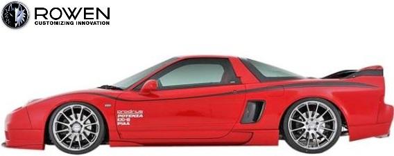 【M's】ホンダ NSX NA1/NA2 (2002.05-2005.12) ROWEN サイドステップ 左右//FRP製 ロェン ロウェン ローウェン ローエン エアロ サイドスポイラー サイドスカート HONDA N-SX NS-X 前期 中期 後期 トミーカイラ 狼炎 1H002J00