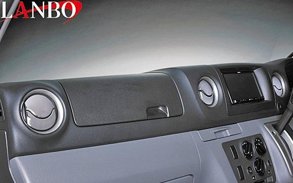 【M's】日産 キャラバン NV350 前期 (2012y-)LANBO製 エアコンダクトカバー (クロームメッキ)//社外品 ランボ オリジナル ABS樹脂 ニッサン NISSAN CARAVAN E26 NV350キャラバン 5代目