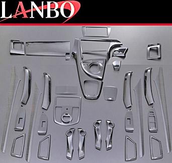 【M's】トヨタ プリウス 30系 ZVW30(2009y-2015y)LANBO製 3Dインテリアパネル 33ピースセット (黒木目調)//TOYOTA PRIUS 3代目 社外品 ランボ オリジナル 室内パネル ABS樹脂 バーズアイ